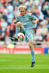SUNDERLAND, ENGLAND - Saturday, August 16, 2008: Liverpool's Sami Hyypia in action against Sunderland during the opening Premiership match of the season at the Stadium of Light. (Photo by David Rawcliffe/Propaganda)