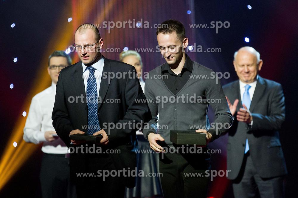 Sebastijan Piletic and Saso Bertoncelj at Slovenian Sports personality of the year 2013 annual awards presented on the base of Slovenian sports reporters, on December 19, 2013 in Cankarjev dom, Ljubljana, Slovenia.  Photo by Vid Ponikvar / Sportida