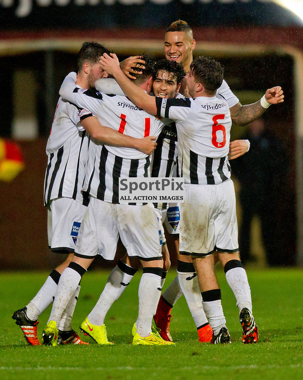 Dunfermline Athletic v Brechin City SPFL League One Season 2015/16 East End Park 05 December 2015<br /> Faissal El Bakhtaoui makes it 1-0<br /> CRAIG BROWN | sportPix.org.uk