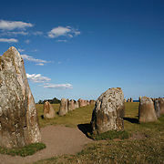 Ale's Stones is a megalithic monument from 500 AD in Scania, southern Sweden. It is a stone ship, oval in outline, with the stones at each end markedly larger than the rest. It is 67-metres long formed by 59 large boulders, weighing up to 1.8 tons each.<br /> Photography by Jose More