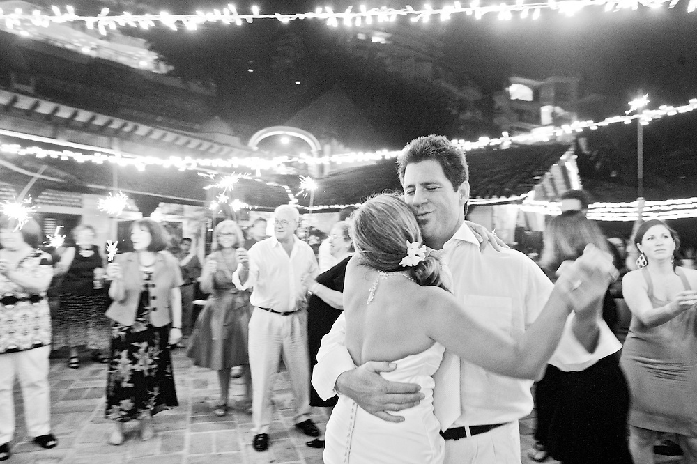 Villa Celeste Wedding in Puerto Vallarta, Mexico, with the Dazzling Details.  Last dance with the sparklers.  Image by Maine Wedding Photographer, Puerto Vallarta Wedding Photographer, New York City Wedding Photographer and Philadelphia Wedding Photographer Michelle Turner.