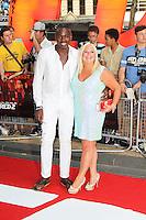 Ben Ofoedu; Vanessa Feltz, Red 2 European Film Premiere, Empire cinema Leicester Square, London UK, 22 July 2013, (Photo by Richard Goldschmidt)