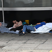UK weather: Homeless in Brighton, UK on July 27 2018.