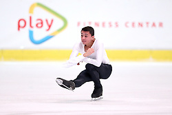 03.12.2015, Dom Sportova, Zagreb, CRO, ISU, Golden Spin of Zagreb, Kurzprogramm Herren, im Bild Kevin Aymoz, France // during the 48th Golden Spin of Zagreb 2015 Male Short Program of ISU at the Dom Sportova in Zagreb, Croatia on 2015/12/03. EXPA Pictures © 2015, PhotoCredit: EXPA/ Pixsell/ Slavko Midzor<br /> <br /> *****ATTENTION - for AUT, SLO, SUI, SWE, ITA, FRA only*****