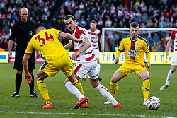 John Marquis of Doncaster Rovers takes on Martin Kelly of Crystal Palace - Mandatory by-line: Robbie Stephenson/JMP - 17/02/2019 - FOOTBALL - The Keepmoat Stadium - Doncaster, England - Doncaster Rovers v Crystal Palace - Emirates FA Cup fifth round proper