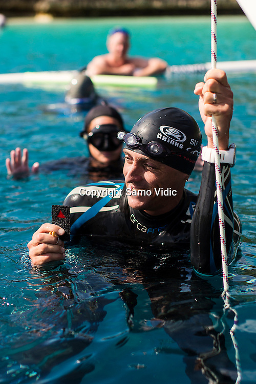 William Trubridge of New Zealand at Dean`s Blue Hole, Bahamas, 22 November 2012<br /> Photo: Samo Vidic