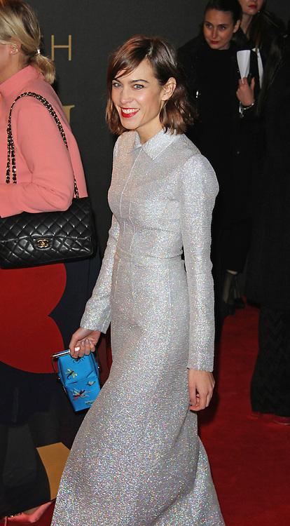 Alexa Chung, The British Fashion Awards 2014, The London Coliseum, London UK, 01 December 2014, Photo By Brett D. Cove © Licensed to London News Pictures. 02/12/2014. Brett D Cove/PIQ/LNP