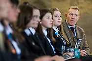 S3 pupils studying Rural Skills from McLaren High School in Callander attended a Q&A session with Adam Henson sponsored by the Bank of Scotland and in association with RHET at Meldrum Farm, Blair Drummond.