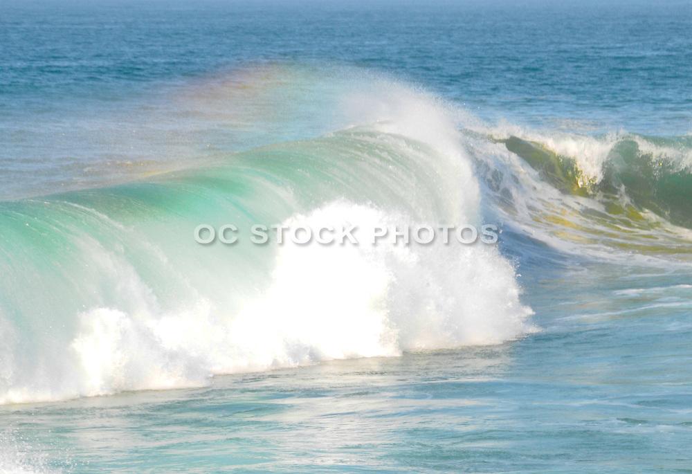 Waves Crashing on the Coast in Orange County