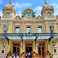 Monte Carlo Casino Entrance in Monte Carlo, Monaco <br />