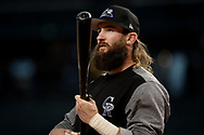 Apr 28, 2017; Phoenix, AZ, USA; Colorado Rockies outfielder Charlie Blackmon (19) during batting practice prior to the game against the Arizona Diamondbacks at Chase Field. Mandatory Credit: Jennifer Stewart-USA TODAY Sports