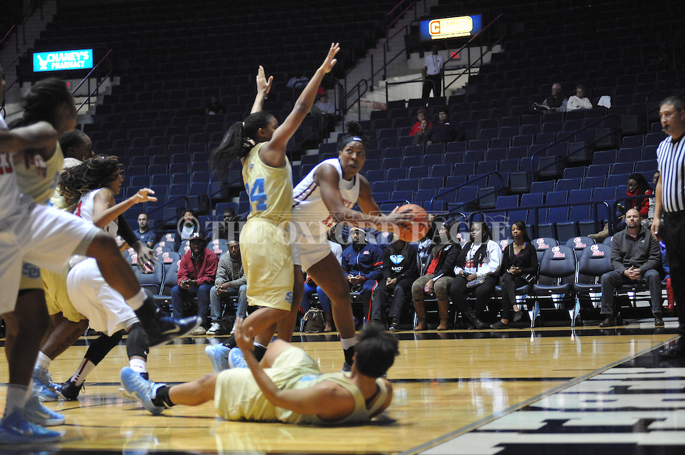 "Ole Miss vs. Southern at the C.M. ""Tad"" Smith Coliseum in Oxford, Miss. on Thursday, November 20, 2014. (AP Photo/Oxford Eagle, Bruce Newman)"