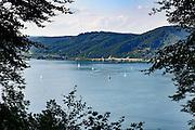 Blick von Marienschlucht auf Überlinger See, Bodensee, Baden-Württemberg, Deutschland