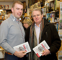 Founder of the Expect Success Academy, Galway based business and marketing strategist John Mulry launched his first book Your Elephant's Under Threat. At the launch was Kevin Nugent, Mr Waffle and Coleman Collins, SCCUL<br /> Your Elephant's Under Threat will be available from www.amazon.com and Charlie Byrne&rsquo;s Bookshop Galway from February 28th and retails at &euro;19.99<br /> &nbsp;Photo:Andrew Downes