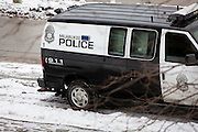 MILWAUKEE, WI – DECEMBER 16: A Milwaukee Police van parked outside of the downtown precinct building on Friday, December 16, 2016.