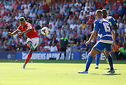 Jordan Cousins shouts in frustration after his shot misses the target during the Sky Bet Championship match between Charlton Athletic and Queens Park Rangers at The Valley, London, England on 8 August 2015. Photo by Andy Walter.