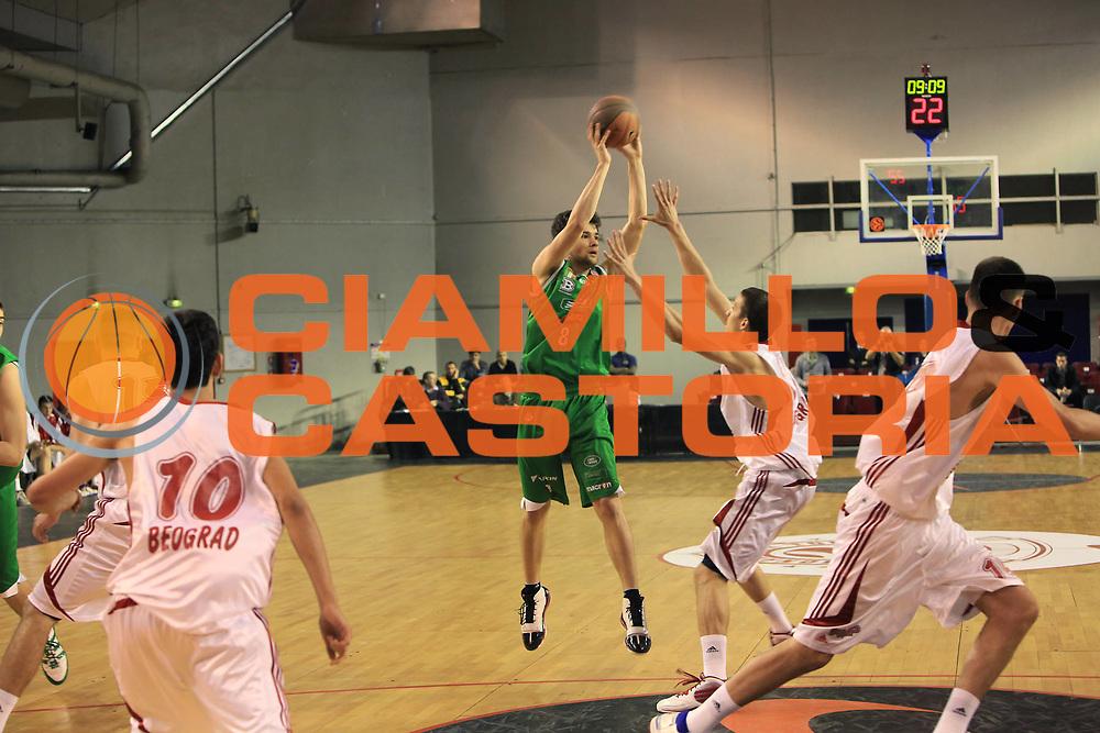 DESCRIZIONE : Parigi Paris Eurolega Eurolegue 2009-10 Final Four Nike International Junior Tournament  Fmp Belgrado Benetton Basket Treviso<br /> GIOCATORE :  Paolo Zanatta<br /> SQUADRA : Benetton Basket Treviso<br /> EVENTO : Eurolega 2009-2010 <br /> GARA : Fmp Belgrado Benetton Basket Treviso<br /> DATA : 06/05/2010 <br /> CATEGORIA : passaggio<br /> SPORT : Pallacanestro <br /> AUTORE : Agenzia Ciamillo-Castoria/C.De Massis<br /> Galleria : Eurolega 2009-2010 <br /> Fotonotizia : Parigi Paris Eurolega Euroleague 2009-2010 Final Four Nike International Junior Tournament  Fmp Belgrado Benetton Basket Treviso<br /> Predefinita :