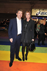 EMMA FORBES and her husband GRAHAM CLEMPSON arrive at the press night of the new Andrew Lloyd Webber  musical 'The Wizard of Oz' at The London Palladium, Argylle Street, London on 1st March 2011 followed by an aftershow party at One Marylebone, London NW1