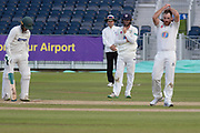 Ben Raine has LBW appeals against Harry Swindells declined during the Specsavers County Champ Div 2 match between Durham County Cricket Club and Leicestershire County Cricket Club at the Emirates Durham ICG Ground, Chester-le-Street, United Kingdom on 20 August 2019.
