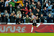 Ayoze Perez (#17) of Newcastle United celebrates Newcastle United's second goal (2-2) during the Premier League match between Newcastle United and Everton at St. James's Park, Newcastle, England on 9 March 2019.