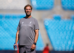 CHARLOTTE, USA - Saturday, July 21, 2018: Liverpool's manager Jürgen Klopp during a training session at the Bank of America Stadium ahead of a preseason International Champions Cup match between Borussia Dortmund and Liverpool FC. (Pic by David Rawcliffe/Propaganda)