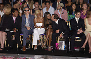 Naomi Campbell, Kevin Spacey,amongst the front row at the Atelier Versace show, Theatre National de Chaillot. Paris. © Copyright Photograph by Dafydd Jones 66 Stockwell Park Rd. London SW9 0DA Tel 020 7733 0108 www.dafjones.com