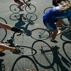 Cyclists compete in a centurion race in Baltimore, Md.