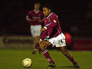 06/12/2003 - Photo  Peter Spurrier.FA Cup 2nd Rd - Northampton v Weston S Mare.Northamptons Derek Asamoah