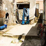Rosarno, Calabria, south Italy. Here illegal immigrants live in seriously bad conditions in dirty and overcrowded shelters There is no help from the local government neither from the inhabitants