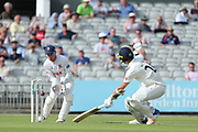 Essex miss field a run out of Lancashires Joe Mennie during the Specsavers County Champ Div 1 match between Lancashire County Cricket Club and Essex County Cricket Club at the Emirates, Old Trafford, Manchester, United Kingdom on 9 June 2018. Picture by George Franks.