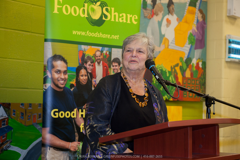 "Michele Landsberg at the launch party of ""share"", FoodShare's 1st cookbook. Nov. 14, 2012."