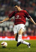 John O'Shea<br />Manchester United 2004/05<br />Manchester United v PSV Eindhoven (1-0)<br />The Vodafone Cup 03/08/04<br />Photo Robin Parker Fotosports International