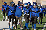 Newburgh, New York - Middletown plays Goshen in the Orange County Youth Football League Division II Super Bowl at Newburgh Free Academy on  Nov. 22, 2014.