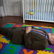 Dr. Richard Ferber, photographed in his son's nursery in Washington, DC. Dr. Ferber is the founder and former director of the Center for Pediatric Sleep Disorders at Children's Hospital in Boston. Since the publication of his book Solve Your Child's Sleep Problems in 1985, he's become known as a leading - and controversial - expert on children's sleep.