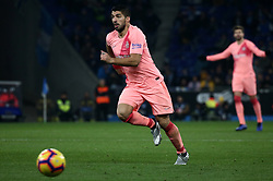 December 8, 2018 - Barcelona, Catalonia, Spain - Luis Suarez during the match between RCD Espanyol and FC Barcelona, corresponding to the week 15 of the spanish league, played at the RCD Espanyol Stadium on 08th December 2018 in Barcelona, Spain. Photo: Joan Valls/Urbanandsport /NurPhoto. (Credit Image: © Joan Valls/NurPhoto via ZUMA Press)
