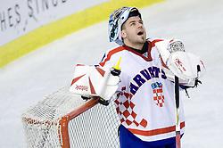 BELIC Vanja of Croatia  at IIHF Ice-hockey World Championships Division I Group B match between National teams of Hungary and Croatia, on April 20, 2010, in Tivoli hall, Ljubljana, Slovenia.  (Photo by Vid Ponikvar / Sportida)