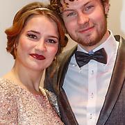 NLD/Amsterdam/20151214 - Film premiere Mannenharten 2, Barbara Sloesen en partner Max