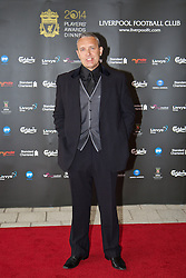 LIVERPOOL, ENGLAND - Tuesday, May 6, 2014: Actor Mark Moraghan arrives on the red carpet for the Liverpool FC Players' Awards Dinner 2014 at the Liverpool Arena. (Pic by David Rawcliffe/Propaganda)