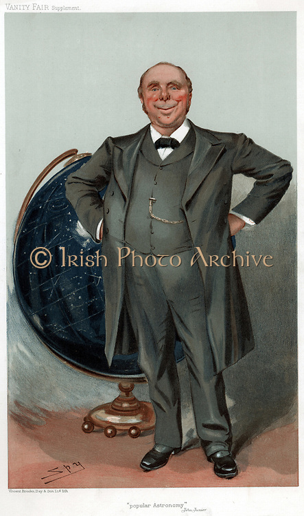 Robert Stawell Ball (1840-1913) Irish astronomer and mathematician; populariser of science. Lord Rosse's astronomer at Parsonstown; Royal astronomer of Ireland 1874-92. 'Spy' (Leslie Ward) cartoon from 'Vanity Fair' London 1905.