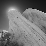 Mormon Rocks - Backlit Uplift - Infrared Black & White