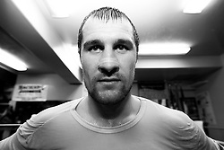Sergei Kovalev training feature in Big  Bear, California, USA. March 2012