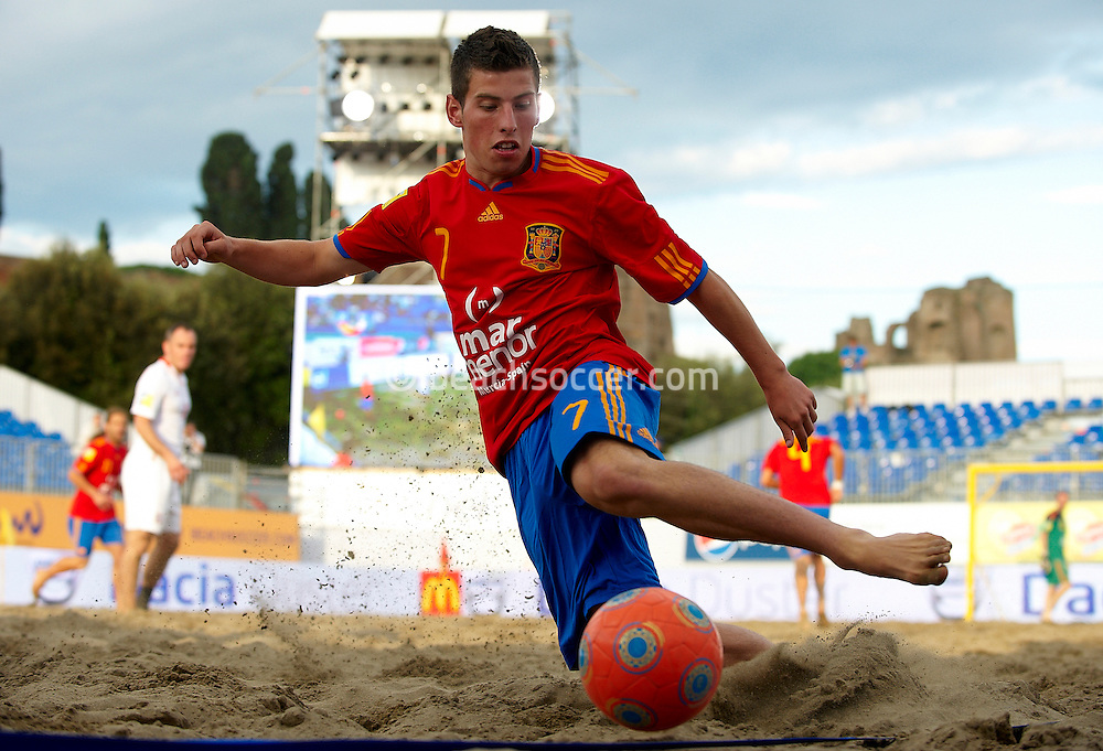ROME, ITALY - JUNE 04:  Euro Beach Soccer Cup Rome 2010 on June 04, 2010 in Rome, Italy.  (Photo by Manuel Queimadelos)