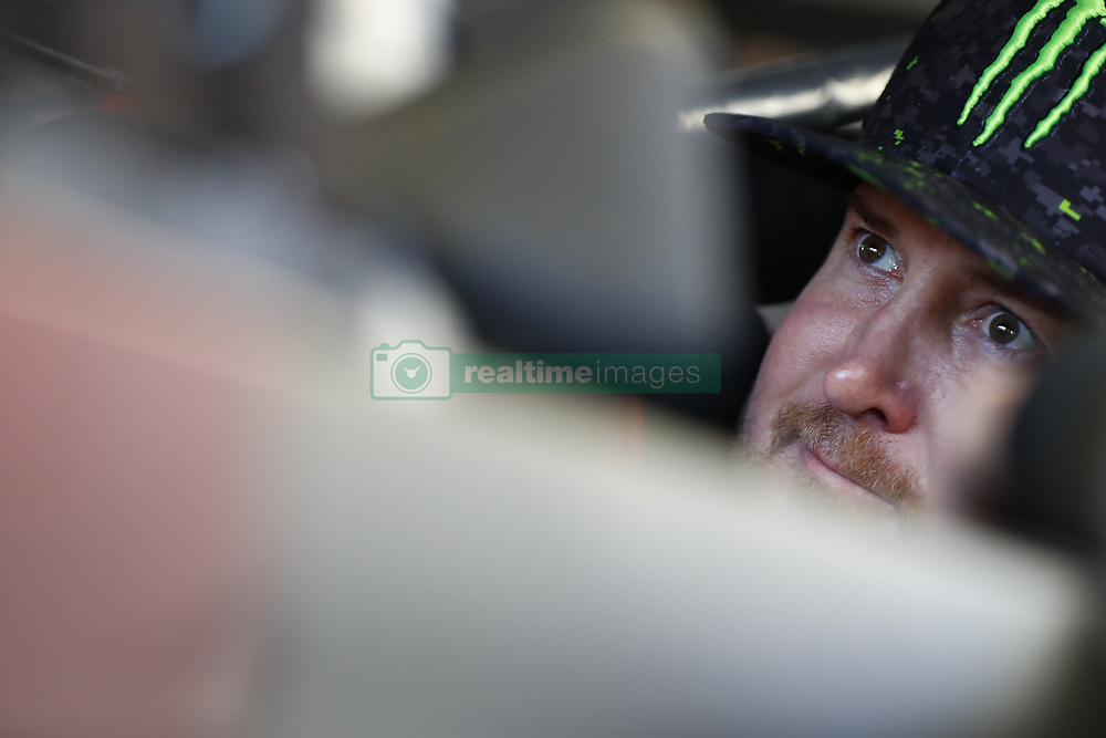 March 2, 2018 - Las Vegas, Nevada, United States of America - March 02, 2018 - Las Vegas, Nevada, USA: Kurt Busch (41) straps into his car to practice for the Pennzoil 400 at Las Vegas Motor Speedway in Las Vegas, Nevada. (Credit Image: © Chris Owens Asp Inc/ASP via ZUMA Wire)