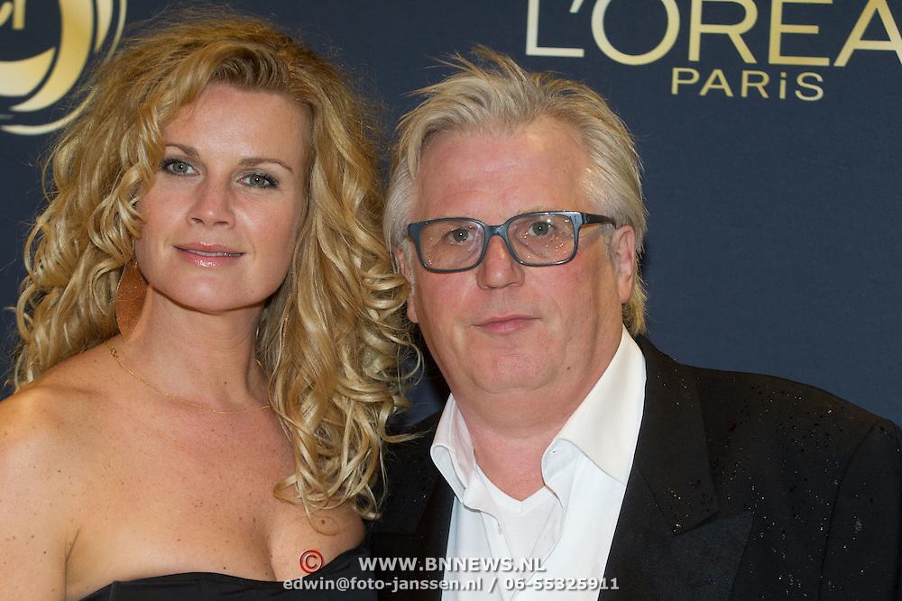 NLD/Amsterdam/20151015 - Televizier gala 2015, Annette Barlo en partner Frank Timmer