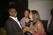 Ken Roberson, Janice Bailey and Lynn Blades, Opening night of Cameron Mackintosh's new production 'Avenue Q' after-party at Mint Leaf. Suffolk Pl. London. 28 June 2006. ONE TIME USE ONLY - DO NOT ARCHIVE  © Copyright Photograph by Dafydd Jones 66 Stockwell Park Rd. London SW9 0DA Tel 020 7733 0108 www.dafjones.com