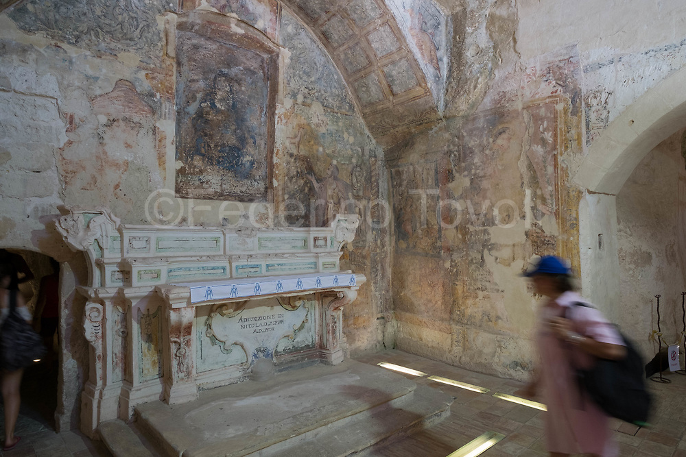 Rupestrian paintings in the church of Santa Maria Idris
