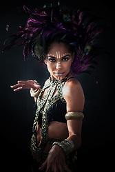Model:  Camelia Febres<br /> Makeup:  Dessa B<br /> Photographer:  Aisha-Zakiya<br /> Costume Design:  Simone Edwards