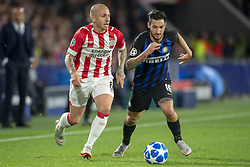October 4, 2018 - Eindhoven, Netherlands - Matteo Politano of Inter and Jose Tesende of PSV during the UEFA Champions League Group B match between PSV Eindhoven and FC Internazionale Milano at Philips Stadium in Eindhoven, Holland on October 3, 2018  (Credit Image: © Andrew Surma/NurPhoto/ZUMA Press)