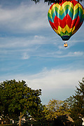 hot air balloon drifting over Montgomery Towne condos, Cincinnati OH