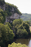 La Roque Saint Christophe a troglodyte site in the cliff above the Vezere river ..., Travel, lifestyle